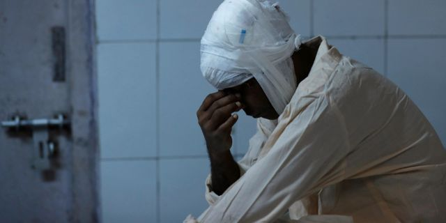 En skadad man vårdas på sjukhus efter olyckan. ADNAN ABIDI / TT NYHETSBYRÅN
