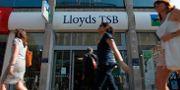 Lloyds bankkontor i centrala London.  LEFTERIS PITARAKIS / TT NYHETSBYRÅN