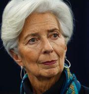 ECB-chefen Christine Lagarde, bild från översvämmat Tyskland 2013.  TT