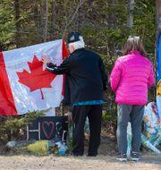 Minnesplats för offren i Portapique, Nova Scotia. Andrew Vaughan / TT NYHETSBYRÅN