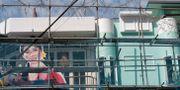 Tomma ramarna utanför restaurangen med Nordkorea-tema.  Lee Jin-man / TT NYHETSBYRÅN