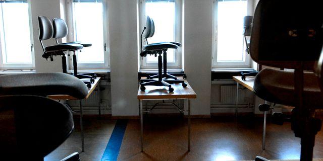 Arkivbild på tomt klassrum.  Ingvar Karmhed / SvD / TT / TT NYHETSBYRÅN