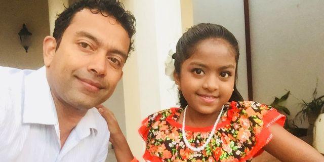 Sudesh Kolonne och hans dotter Alexendria.