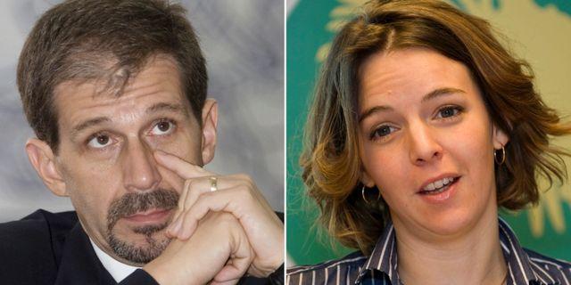 FN:s utredare Robert Petit och mördade svenskan Zaida Catalán. TT.