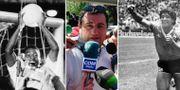 Pelé, Raiola, Maradona. Arkivbilder. TT