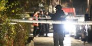 Polis på plats i Malmö där en man skjutits till döds. Johan Nilsson/TT / TT NYHETSBYRÅN
