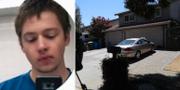 Vänster: Santino William Legans Instagramprofil. Till höger: Huset där den misstänkte skytten bodde.  AP