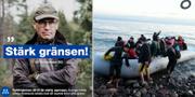 Ulf Kristersson / Flyktingar på den grekiska ön Lesbos Moderaterna på Facebook / TT
