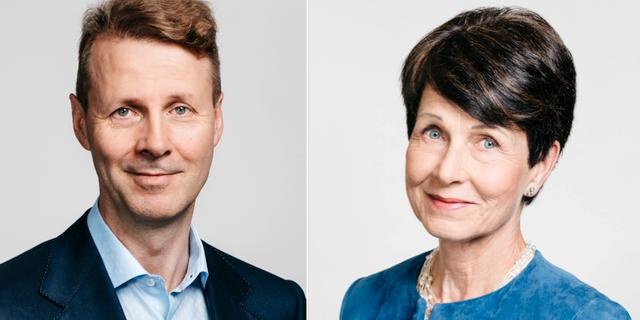 Risto Siilasma och Sari Baldauf. Pressbild.