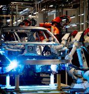 Bilar tillverkas i Volvo Cars fabrik i Torslanda.  ADAM IHSE / TT / TT NYHETSBYRÅN