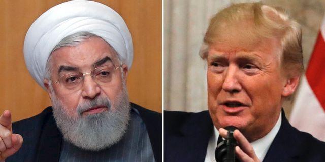Hassan Rouhani/Donald Trump. TT.