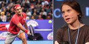 Roger Federer/Greta Thunberg. TT
