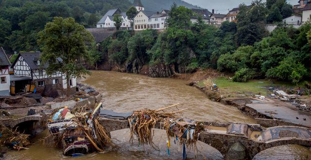 Trasig bro i staden Schuld i Tyskland. Michael Probst / TT NYHETSBYRÅN