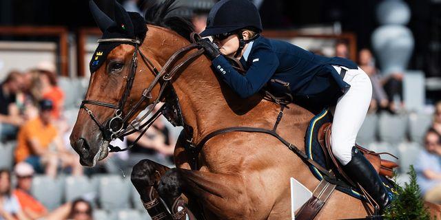 Malin Baryard Johnsson på hästen Indiana. JOHANNA LUNDBERG / BILDBYRÅN