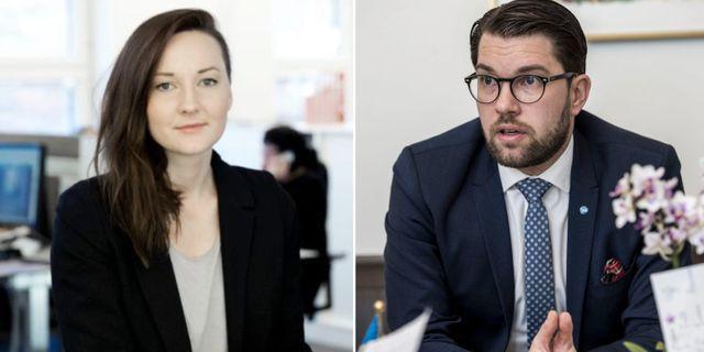 Evelyn Schreiber och Jimmie Åkesson TT