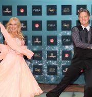 """Mikael """"Soldoktorn"""" Sandström och dansare Malin Watson. Fredrik Sandberg/TT / TT NYHETSBYRÅN"""