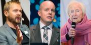 Björn Wiman, Björn Söder och Hédi Fried. TT
