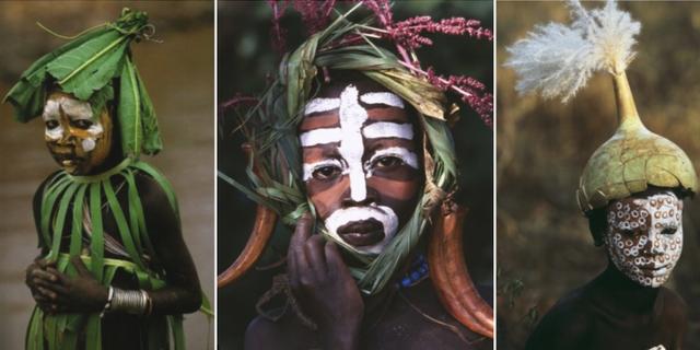 Svart afrikansk tribal kön