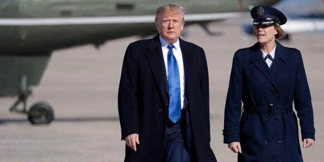 USA:s president Donald Trump.  Evan Vucci / TT NYHETSBYRÅN