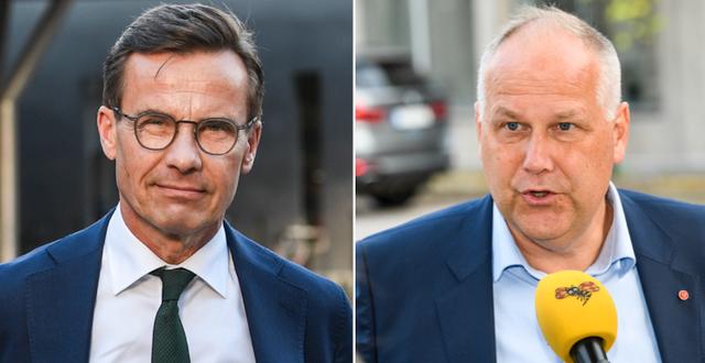 Moderaternas partiledare Ulf Kristersson och Vänsterpartiets Jonas Sjöstedt TT