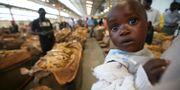 Arkivbild: En kvinna som försöker sälja tobaksblad håller i ett barn. TSVANGIRAYI MUKWAZHI / TT / NTB Scanpix