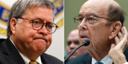 William Barr t.v. Wilbur Ross t.h. TT
