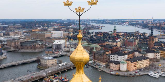 Flygbild över Stockholm. Fredrik Sandberg/TT / TT NYHETSBYRÅN