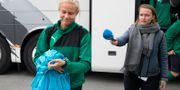Pernille Harder ignorerar en reporter som vill fråga om konflikten med förbundet. Arkivbild, 18 oktober. FINN FRANDSEN / TT / NTB Scanpix