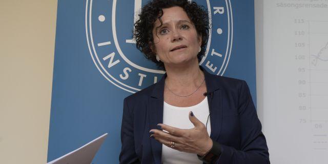 KI:s prognoschef Ylva Hedén Westerdahl. Arkivbild. Anders Wiklund/TT Nyhetsbyrån / TT NYHETSBYRÅN