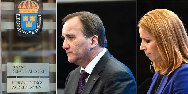 Finansdepartementet/Löfven och Lööf. TT