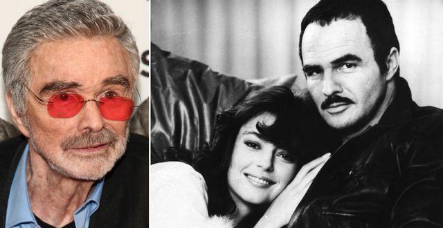 Burt Reynolds 2017 och med skådespelaren Rachel Ward 1981. TT
