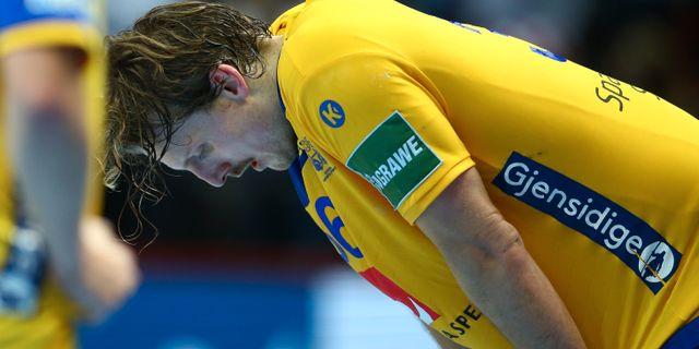 Sveriges Jesper Nielsen deppar efter förlusten. MARKO DJURICA / TT NYHETSBYRÅN