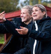 Ada Hegerberg till vänster.  Berit Roald / TT NYHETSBYRÅN