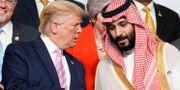 Arkivbild: Donald Trump tillsammans med Saudiarabiens kronprins Mohammed bin Salman.  Kevin Lamarque / TT NYHETSBYRÅN