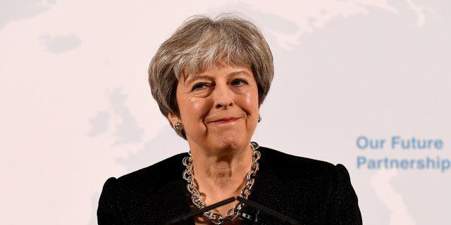 Theresa May. POOL / TT NYHETSBYRÅN