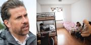 Mikael Ribbenvik/En flyktingfamilj på ett asylboende i Pajala, arkivbilder. TT