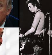 Donald Trump, Nigel Farage/Sid Vicious och Johnny Rotten, 1978.