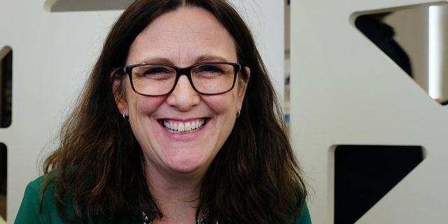 Arkivbild: EU:s handelskommissionär Cecilia Malmström. TT