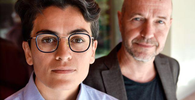 Lawen Mohtadi och Gellert Tamas. Anders Wiklund/TT / TT NYHETSBYRÅN