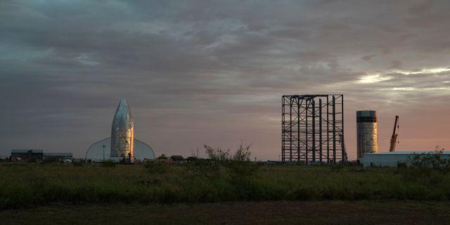 En Starship-prototyp nära Brownsville i Texas. VERONICA CARDENAS / TT NYHETSBYRÅN