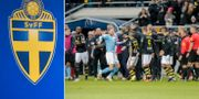 SvFF och bråk mellan AIK och MFF.  TT.