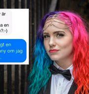 Linnéa Claeson/bild från Instagramkontot Assholesonline. Noella Johansson/TT / TT NYHETSBYRÅN