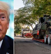 Donald Trump/förberedelser inför militärparaden. TT