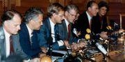 Partiledarna bakom krispaketet 1992. HANS T DAHLSKOG