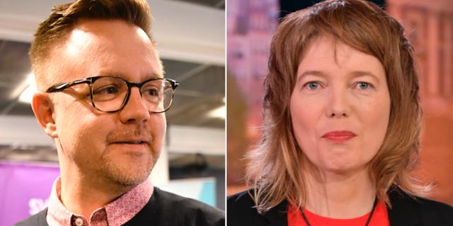 Fredrick Federley och Malin Björk. TT