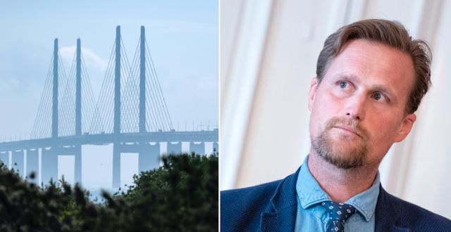 Öresundsbron och Carl Johan Sonesson. TT