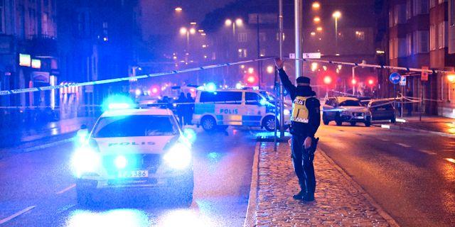 Bild från skjutning i Malmö, 2018. Johan Nilsson/TT / TT NYHETSBYRÅN