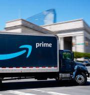 Amazonlastbil i Philadelphia.  Matt Rourke / TT NYHETSBYRÅN