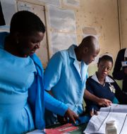 Vaccinationsmottagning i Malawi under pilotprojektet som WHO organiserade/Arkivbild Jerome Delay / TT NYHETSBYRÅN