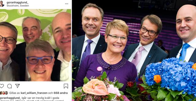 Gamla Alliansen nu och då.  Instagram/TT